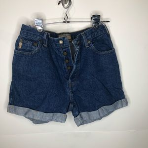 Vintage Express button fly Mom Jeans 5/6 high rise